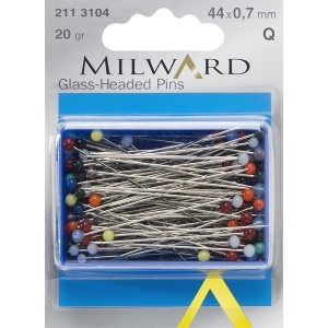 Glass-Headed Pins - 20gr.