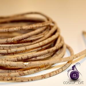 Cork Yarn 3mm - Silver