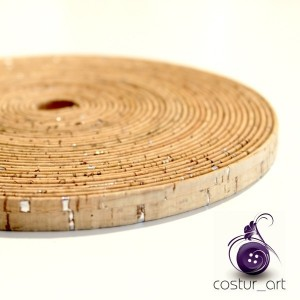 10mm Cork Strip - Gold