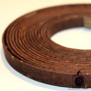 Tira de Cortiça  10mm - Prata
