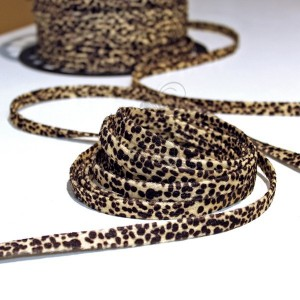 10mm Fabric Stripe - Leopard