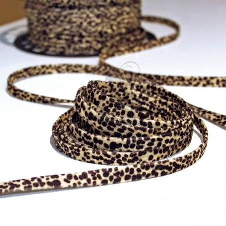 10mm Fabric Stripe - Leopard