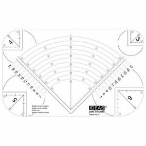 3-17cm Circle Cut Ruler