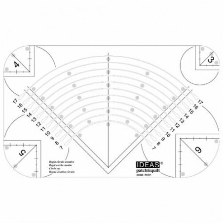 3-17cm Circle Cut Ruler