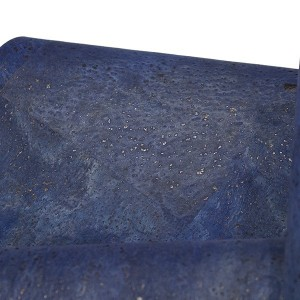 "Cork Fabric ""Dyed Blue"""