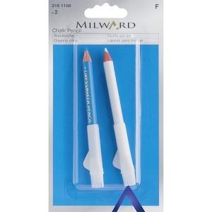 Lápis de Giz - Branco / Azul