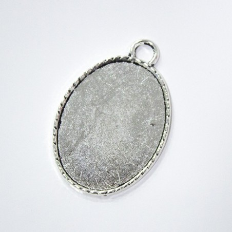 Silver Color Cameo Cabochon Base 27mm * 37mm