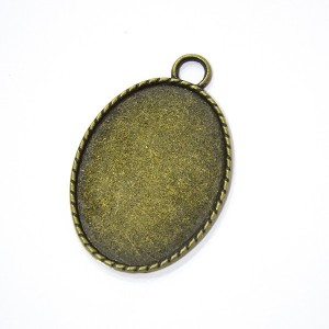 Pendente Oval para Cabochon 27mm * 37mm