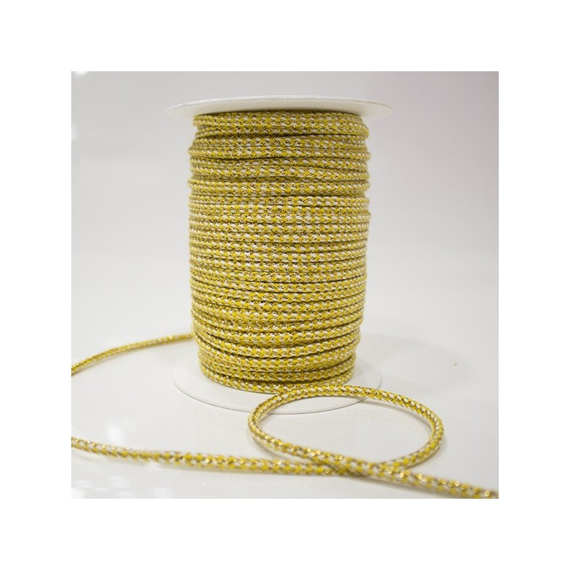 Silk cord with gold