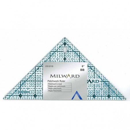 Patchwork  triangle Ruler 6""