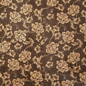 "Corck Fabric ""Black Flowers"""