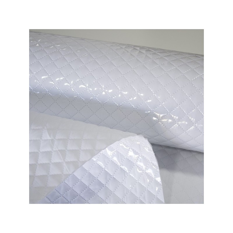 Padded Plasticized Fabric - Grey